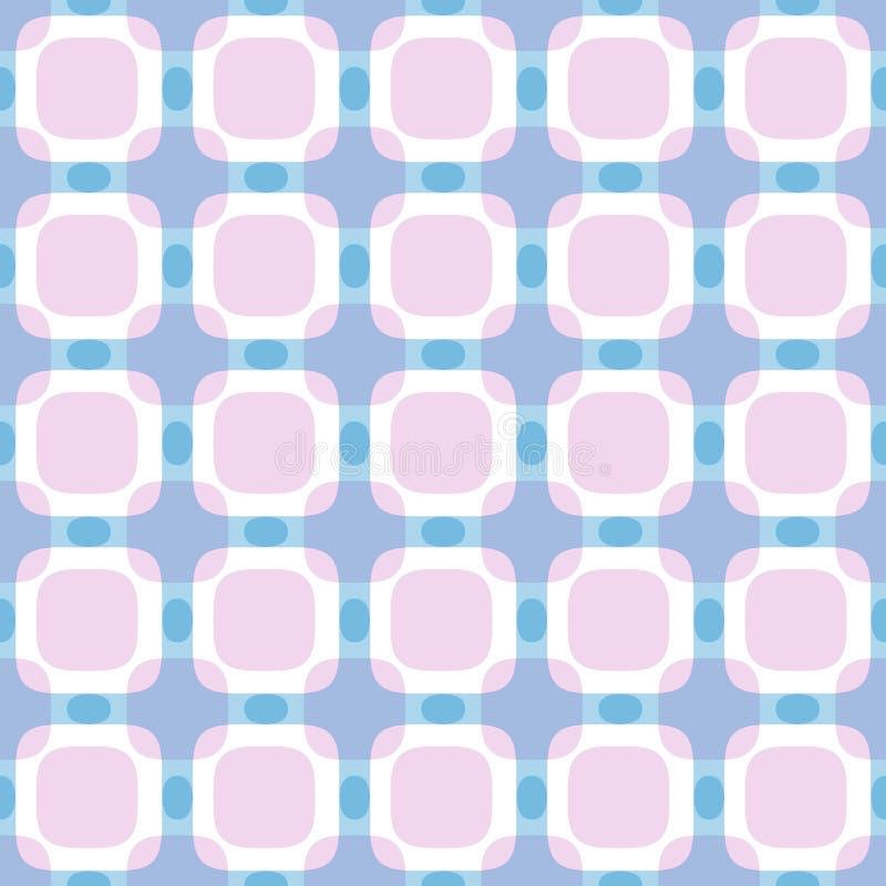 Modelo geométrico abstracto cuadrado inconsútil ilustración del vector