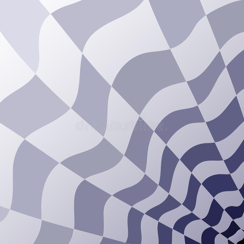 Modelo geométrico abstracto de una perspectiva gris y azul del tablero de damas libre illustration
