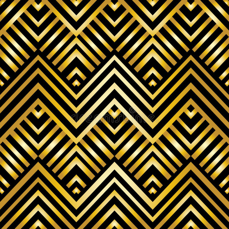 Modelo geométrico abstracto en estilo del art déco stock de ilustración