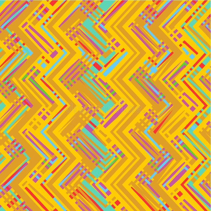 Modelo geométrico abstracto inconsútil ilustración del vector