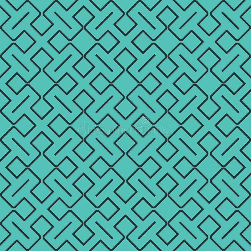 Modelo geométrico abstracto inconsútil con las líneas y los rectángulos - vector eps8 libre illustration