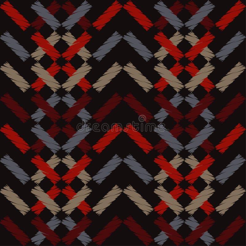 Modelo geométrico abstracto inconsútil La textura de las tiras brushwork Trama de la mano libre illustration