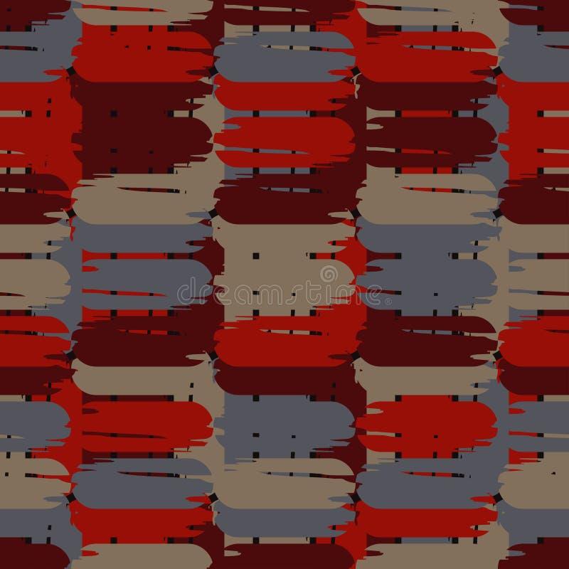 Modelo geométrico abstracto inconsútil La textura de las tiras brushwork Trama de la mano Textura del garabato stock de ilustración