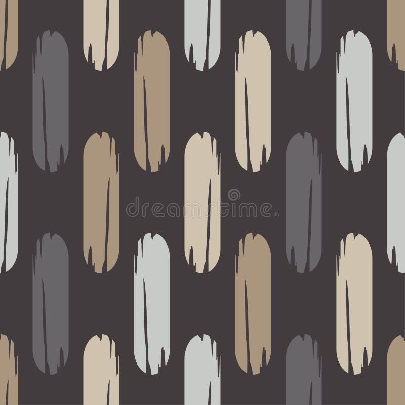 Modelo geométrico abstracto inconsútil La textura de las tiras brushwork Trama de la mano Textura del garabato ilustración del vector