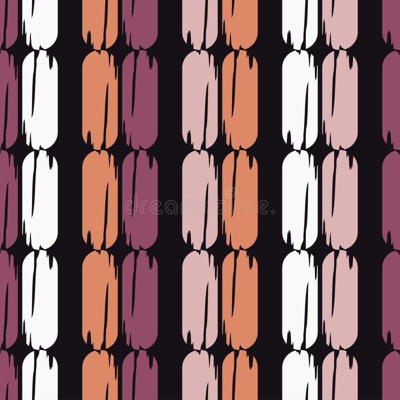 Modelo geométrico abstracto inconsútil La textura de las tiras brushwork Trama de la mano Textura del garabato libre illustration