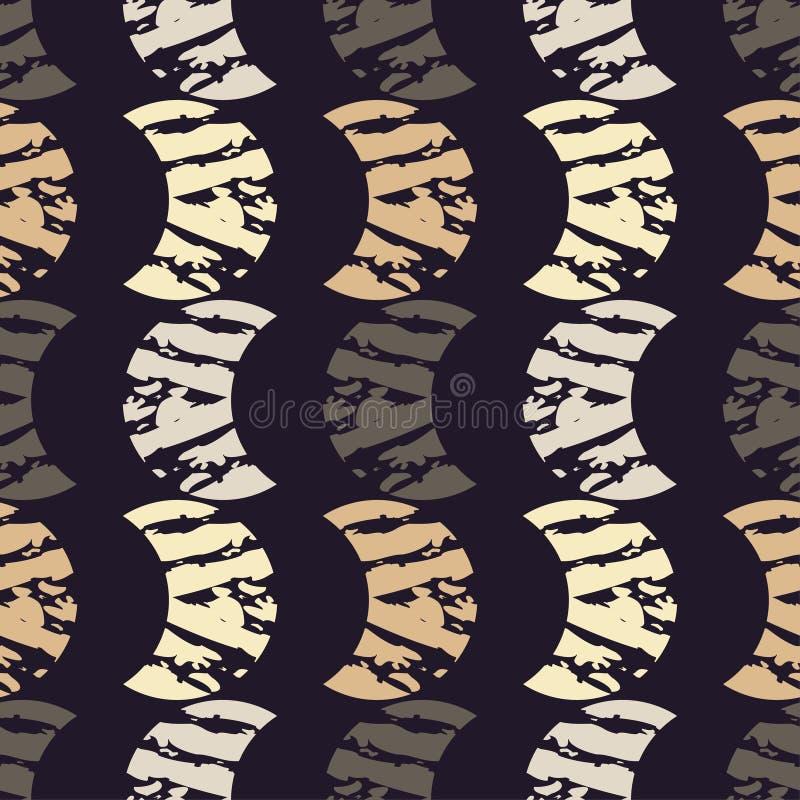 Modelo geométrico abstracto inconsútil La textura de los crecientes brushwork Trama de la mano Textura del garabato libre illustration