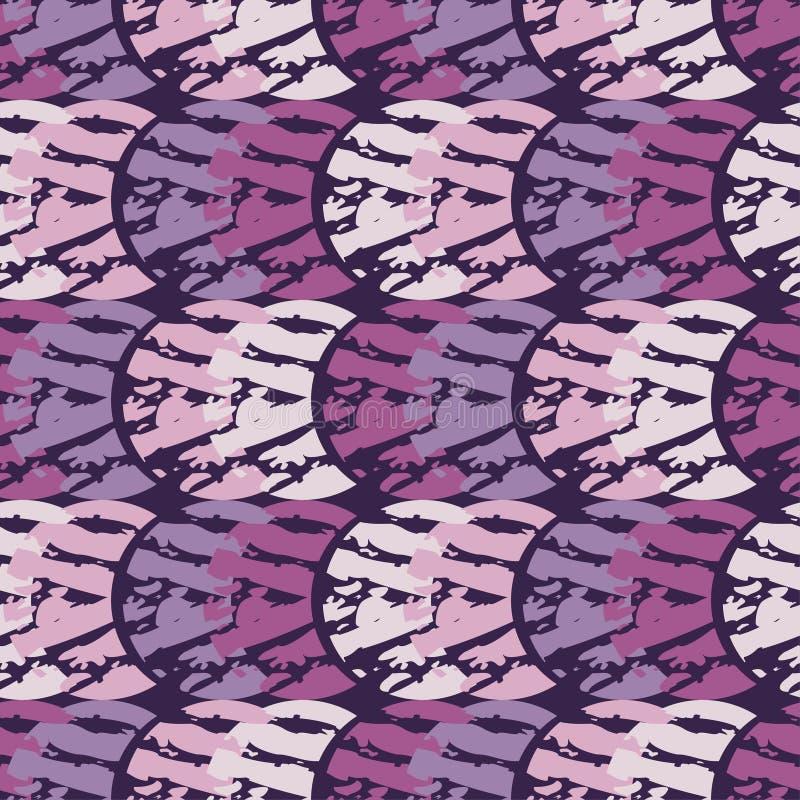 Modelo geométrico abstracto inconsútil La textura de los crecientes brushwork Trama de la mano Textura del garabato stock de ilustración