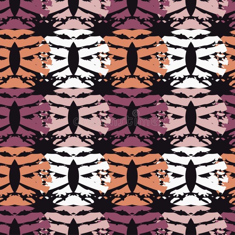 Modelo geométrico abstracto inconsútil La textura de los crecientes brushwork Trama de la mano Textura del garabato ilustración del vector