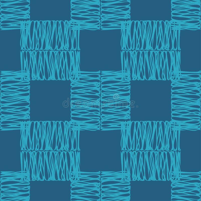 Modelo geométrico abstracto inconsútil La textura de los cuadrados brushwork Trama de la mano Textura del garabato libre illustration