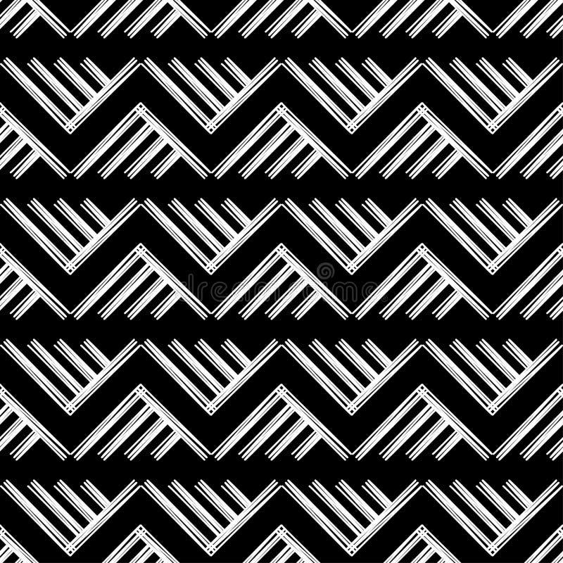 Modelo geométrico abstracto inconsútil La textura de los triángulos brushwork Trama de la mano Textura del garabato libre illustration