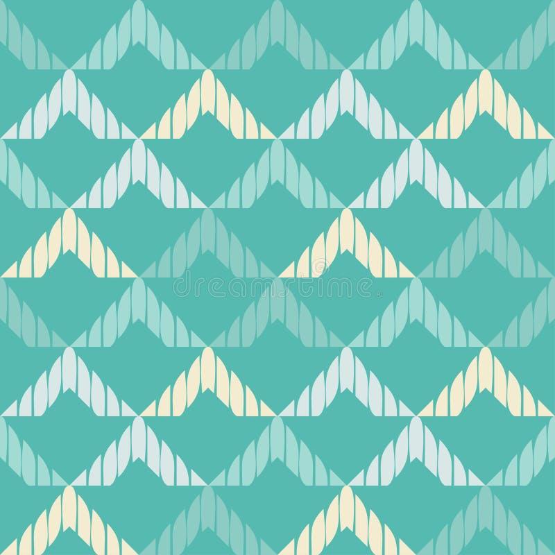 Modelo geométrico abstracto inconsútil La textura del zigzag brushwork Trama de la mano Textura del garabato ilustración del vector