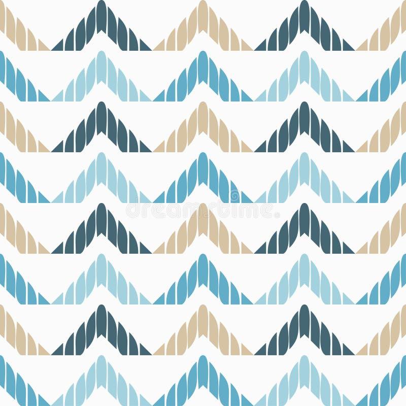 Modelo geométrico abstracto inconsútil La textura del zigzag brushwork Trama de la mano Textura del garabato stock de ilustración