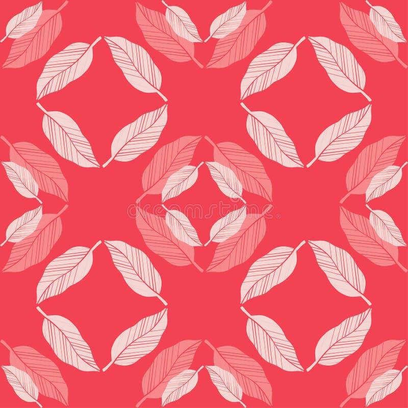 Modelo geométrico abstracto inconsútil Plumas brillantes del loro Textura de mosaico brushwork Trama de la mano Textura del garab stock de ilustración