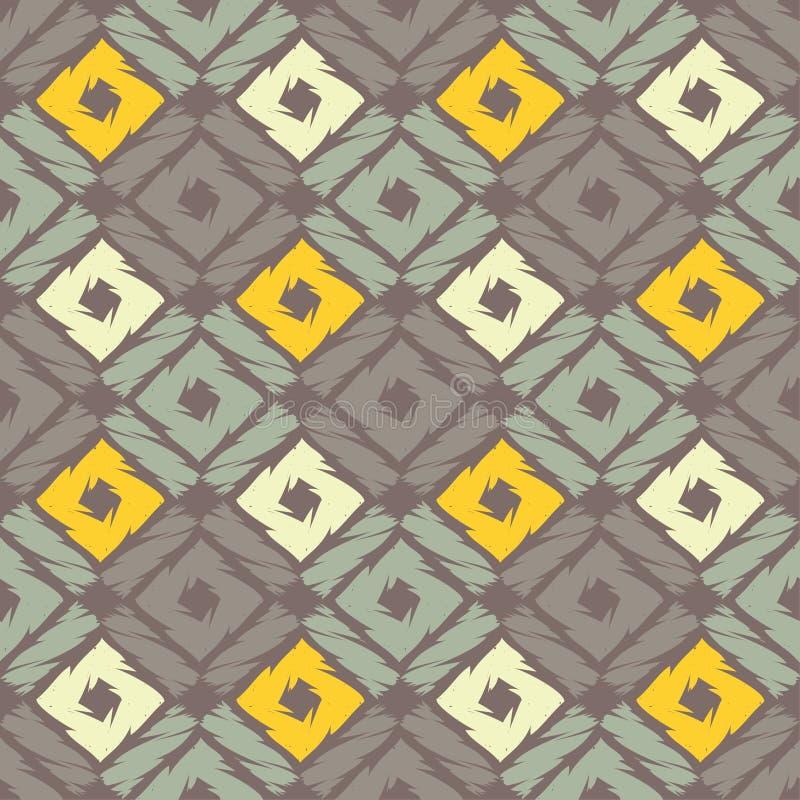 Modelo geométrico abstracto inconsútil Textura de mosaico brushwork Trama de la mano ilustración del vector