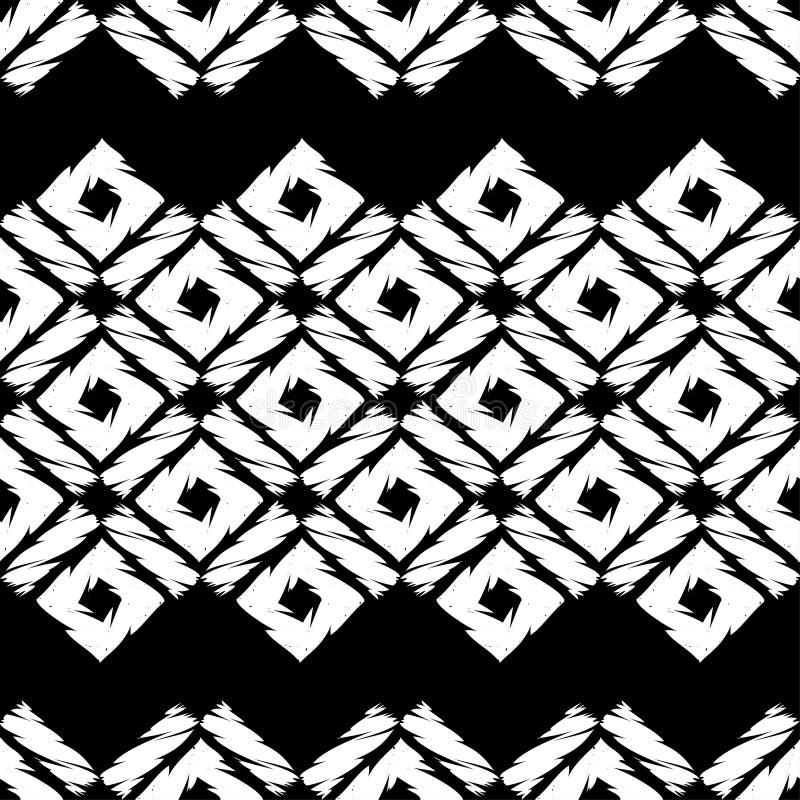 Modelo geométrico abstracto inconsútil Textura de mosaico brushwork Trama de la mano libre illustration