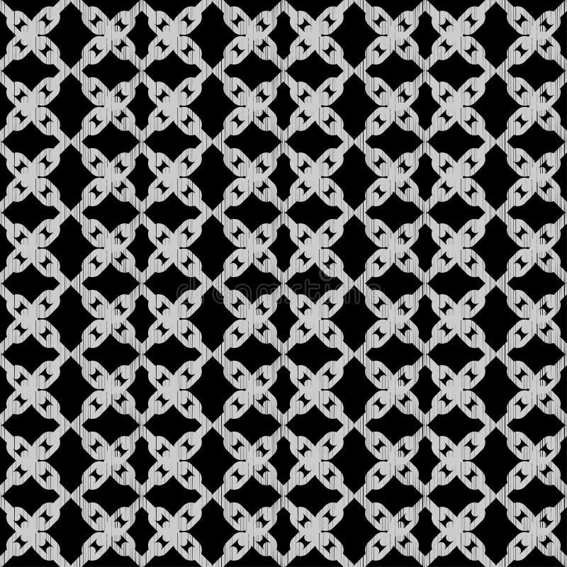 Modelo geométrico abstracto inconsútil Textura de mosaico Textura de cadena brushwork Trama de la mano Textura del garabato libre illustration