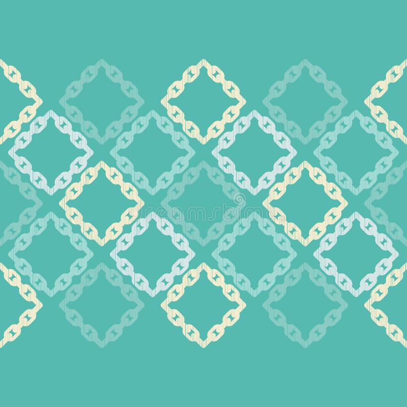 Modelo geométrico abstracto inconsútil Textura de mosaico Textura de cadena brushwork Trama de la mano Textura del garabato stock de ilustración