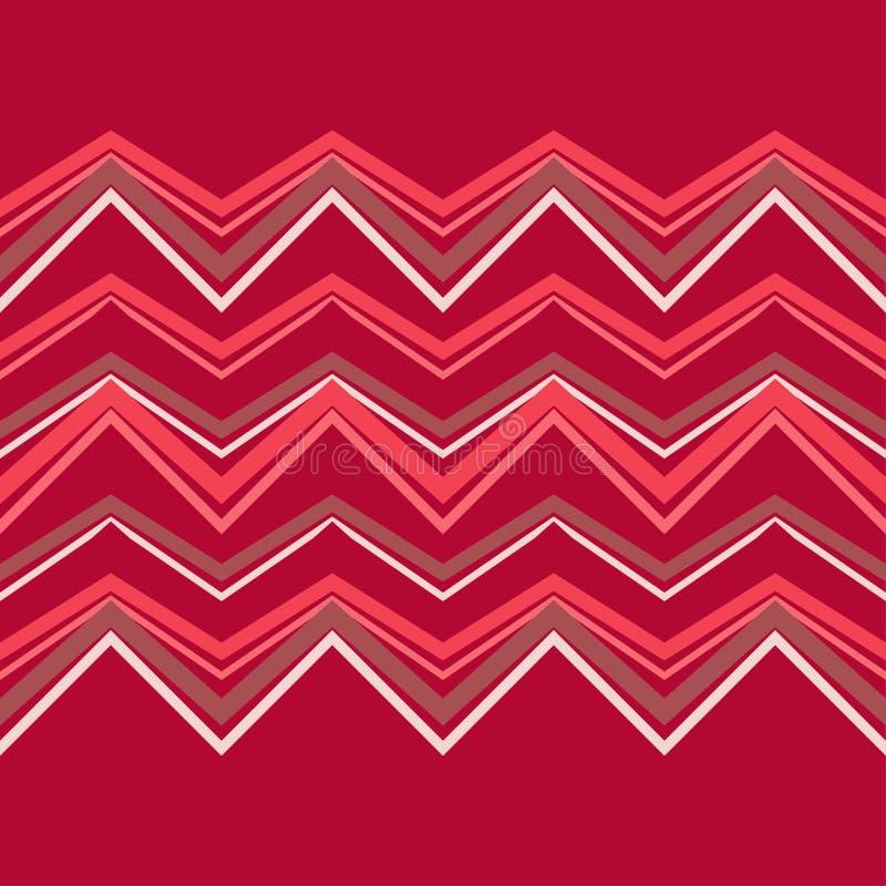 Modelo geométrico abstracto inconsútil Textura de mosaico Textura del zigzag ilustración del vector