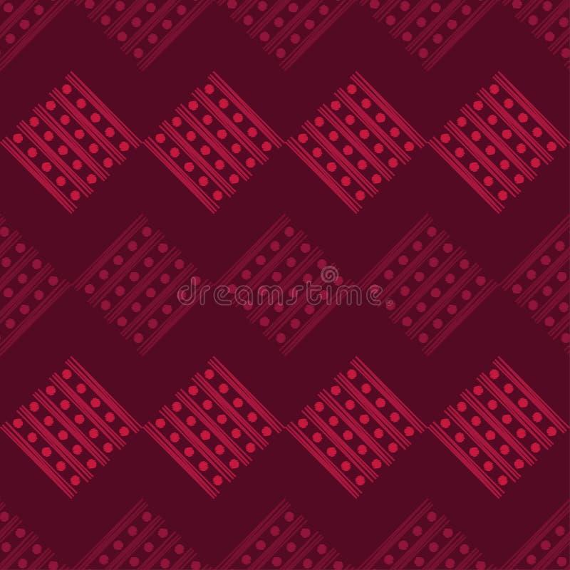 Modelo geométrico abstracto inconsútil Textura de rayas y de círculos brushwork Trama de la mano Textura del garabato stock de ilustración