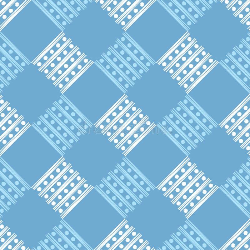Modelo geométrico abstracto inconsútil Textura de rayas y de círculos brushwork Trama de la mano Textura del garabato ilustración del vector