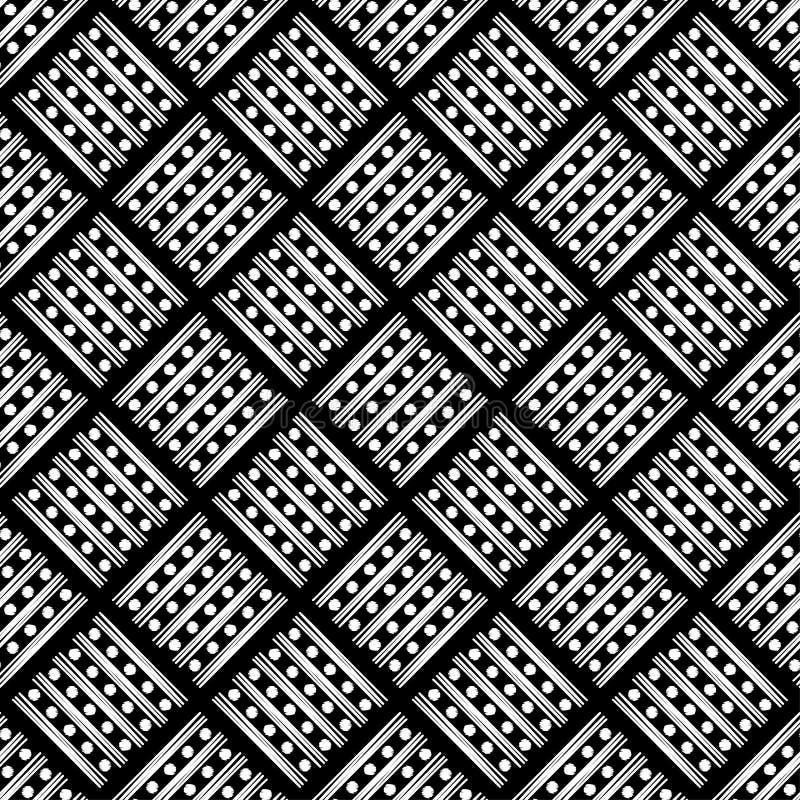 Modelo geométrico abstracto inconsútil Textura de rayas y de círculos brushwork Trama de la mano Textura del garabato libre illustration
