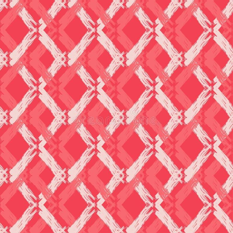 Modelo geométrico abstracto inconsútil Textura del zigzag Textura de mosaico brushwork Trama de la mano Textura del garabato libre illustration