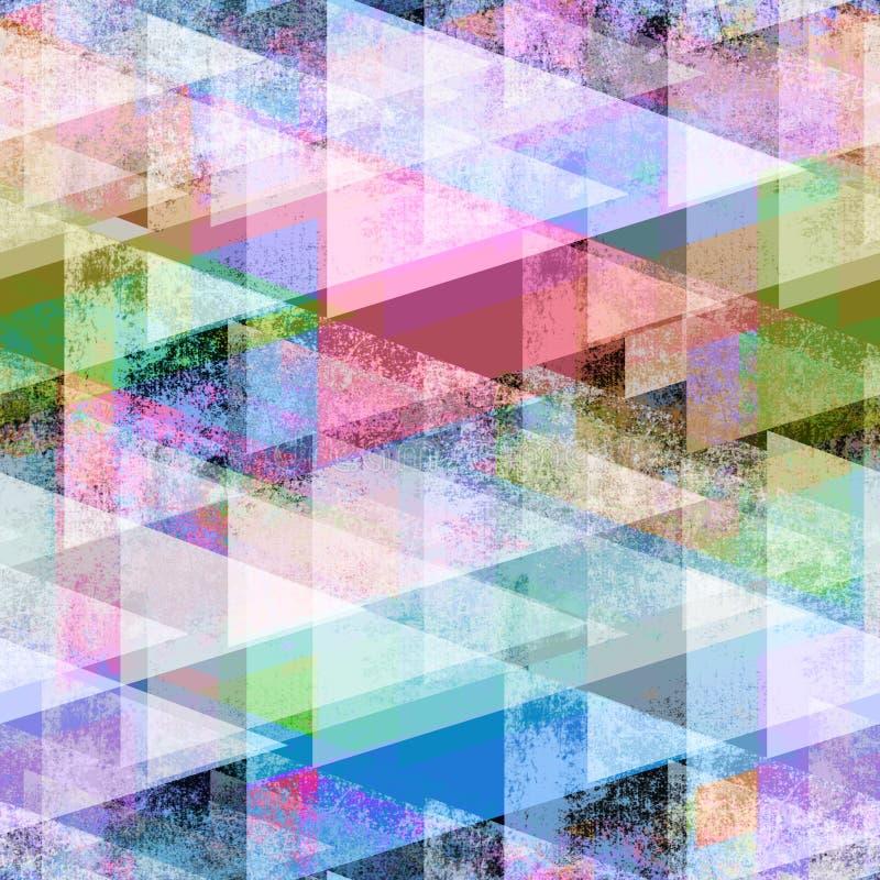 Modelo geométrico abstracto inconsútil Triángulos multicolores stock de ilustración