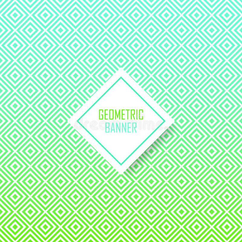 Modelo geométrico abstracto para el diseño moderno de la cubierta del inconformista libre illustration