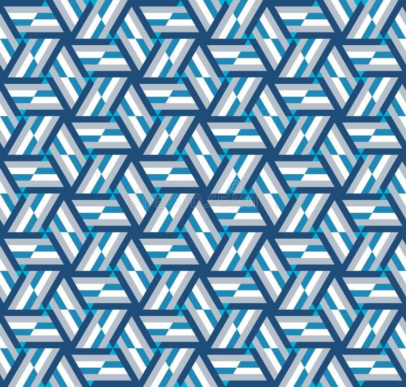 Modelo geométrico abstracto Un caleidoscopio de líneas y de triángulos stock de ilustración