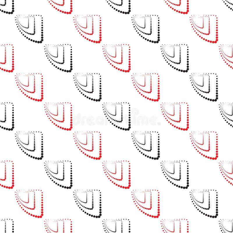 Modelo geométrico abstracto Un fondo inconsútil Textura del negro, blanca y roja ilustración del vector