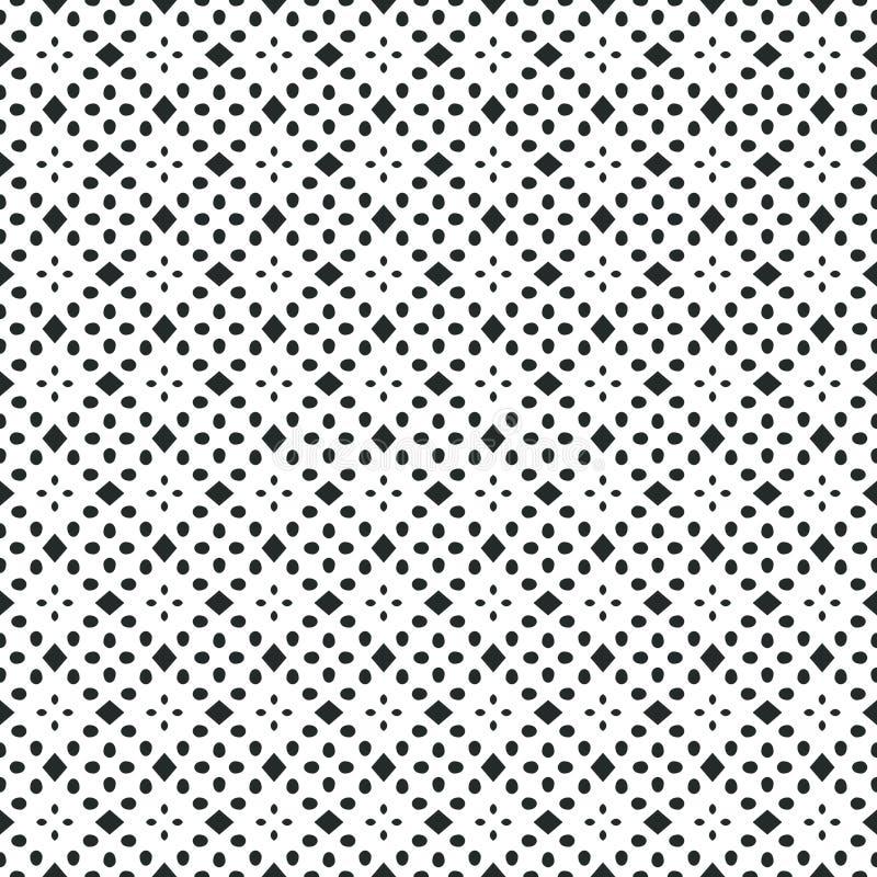 Modelo geométrico antiguo en la repetición Impresión de la tela Fondo inconsútil, ornamento del mosaico, estilo étnico stock de ilustración