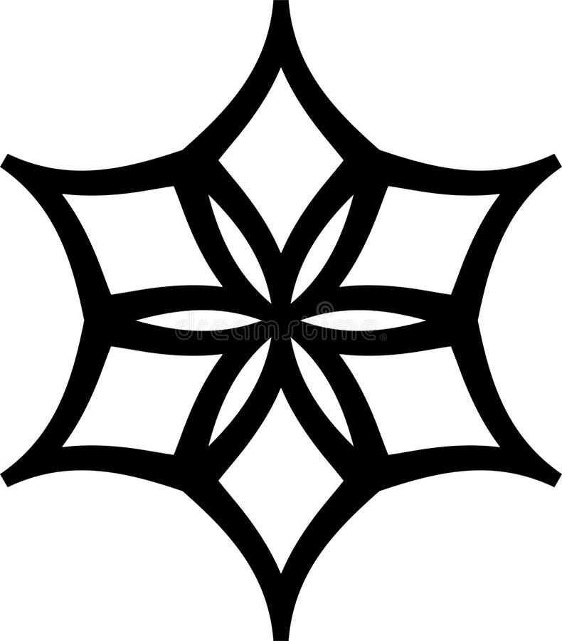 Modelo geométrico blanco y negro en círculo ilustración del vector