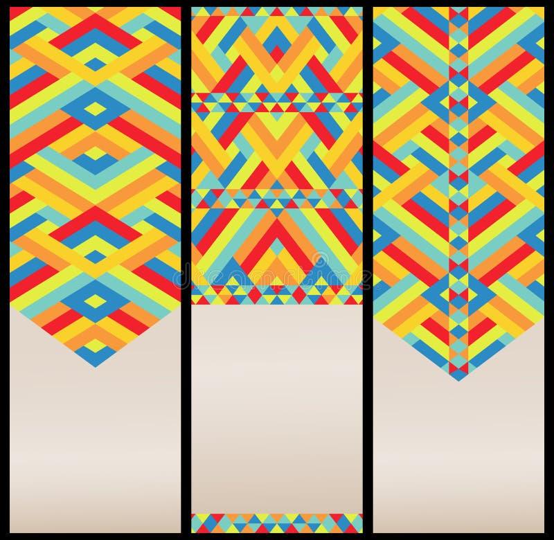 Modelo geométrico brillante en el sistema de tarjetas ilustración del vector