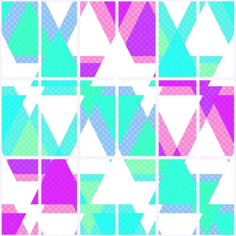Modelo geométrico brillante inconsútil de los triángulos en blanco libre illustration