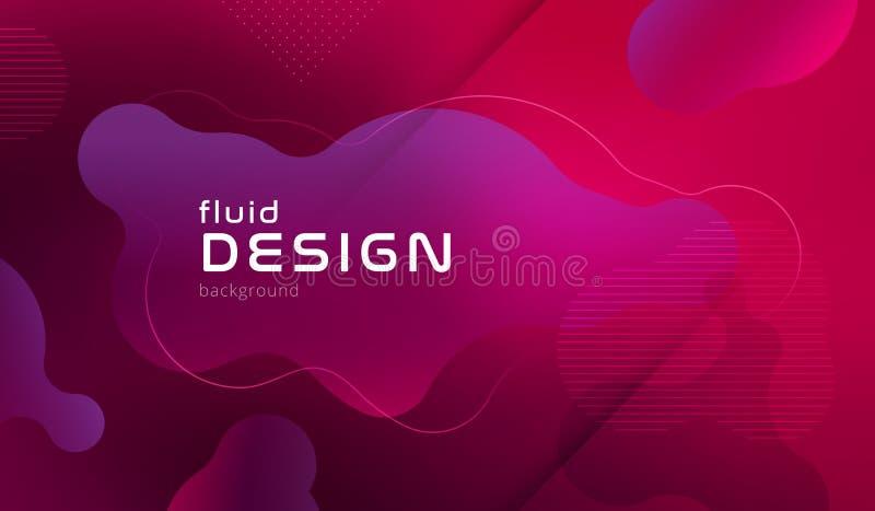 Modelo geométrico colorido del fondo El líquido forma la composición con pendientes de moda Vector Eps10 libre illustration
