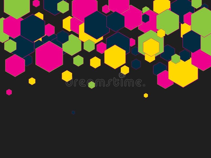 Modelo geométrico con hexágonos coloridos Fondo abstracto del vector fotografía de archivo