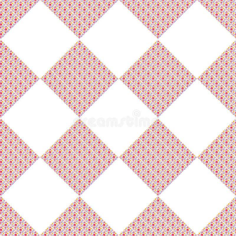 Modelo geométrico con los cuadrados punteados de la acuarela libre illustration