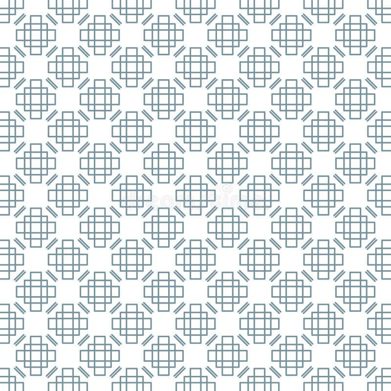 Modelo geométrico con rectángulos Fondo inconsútil del vector libre illustration