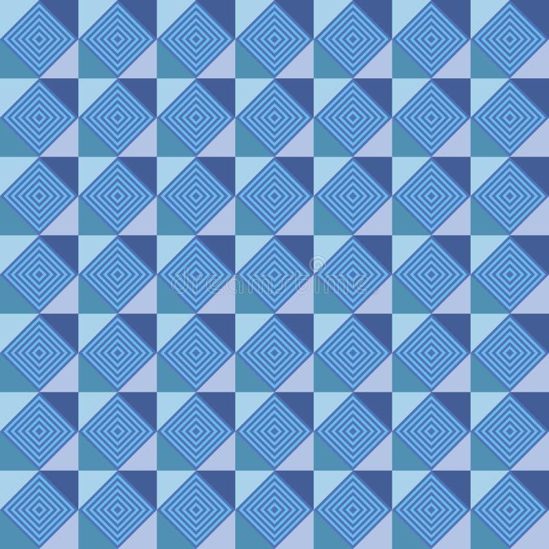 Modelo geométrico cuadrado azul mareado libre illustration