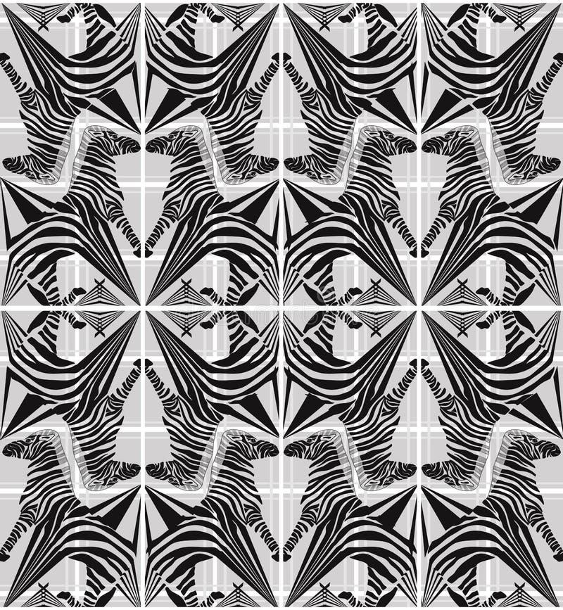 Modelo geométrico de la cebra inconsútil abstracta libre illustration