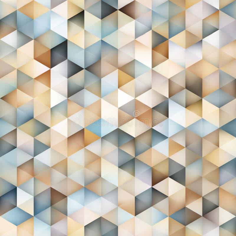 Modelo geométrico de la pendiente del vector del triángulo de la rejilla multicolora inconsútil de la forma stock de ilustración