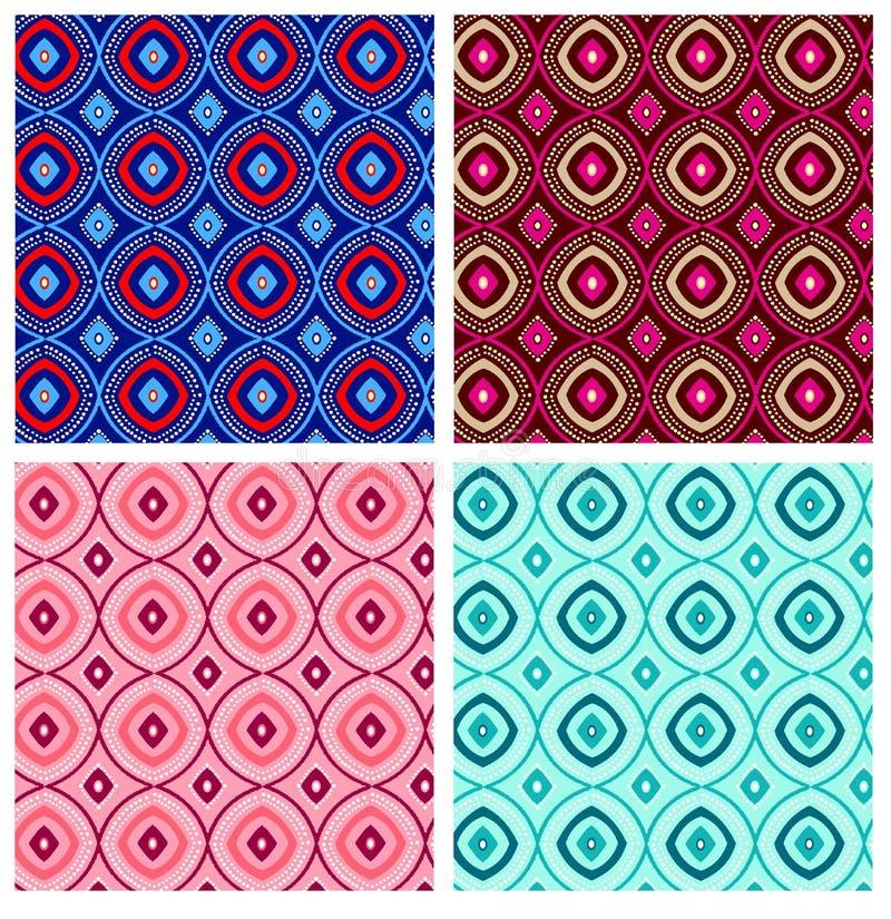 Modelo geométrico de la repetición stock de ilustración