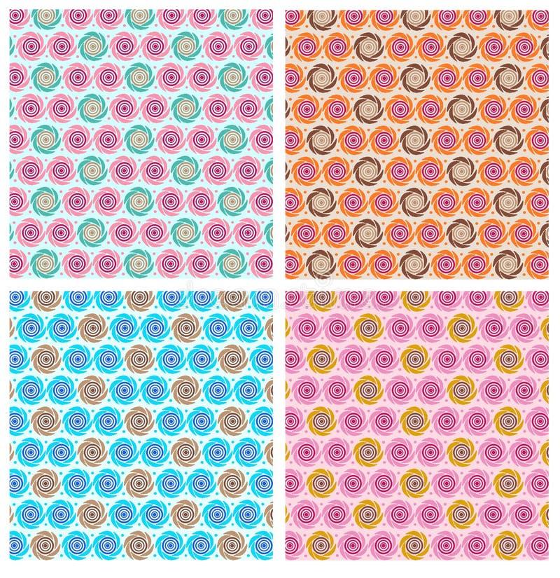 Modelo geométrico de la repetición ilustración del vector