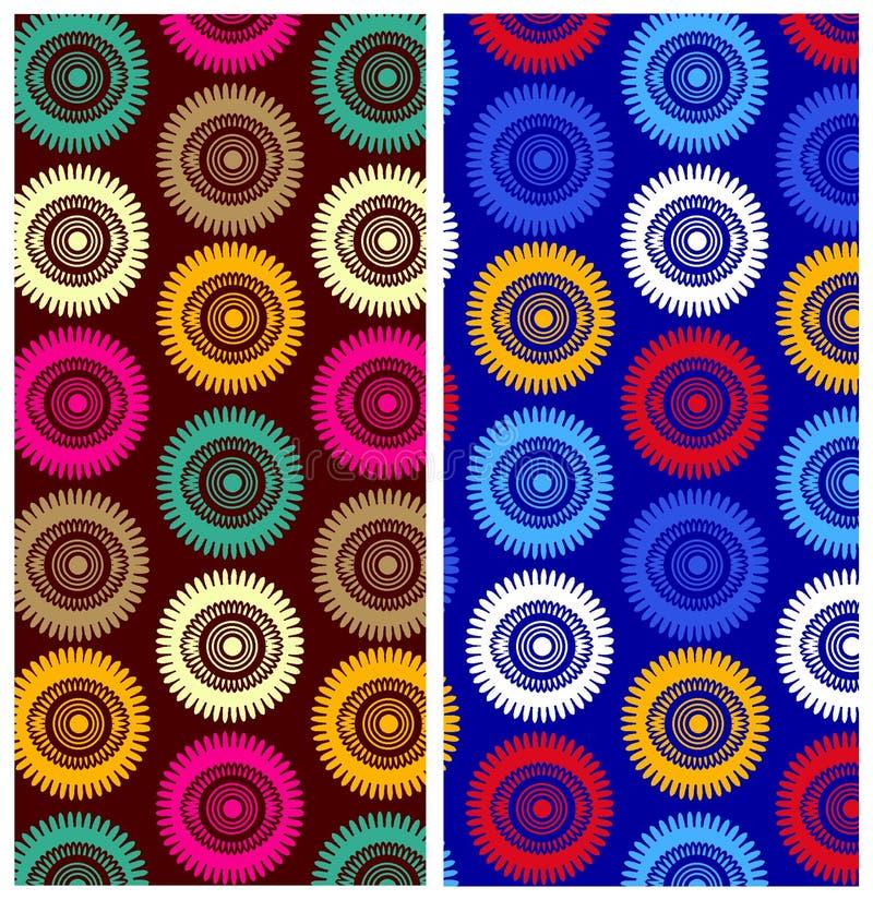 Modelo geométrico de la repetición de los círculos libre illustration