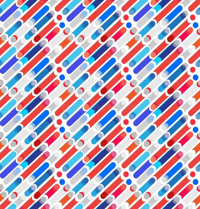 Modelo geométrico de las formas dinámicas abstractas ilustración del vector