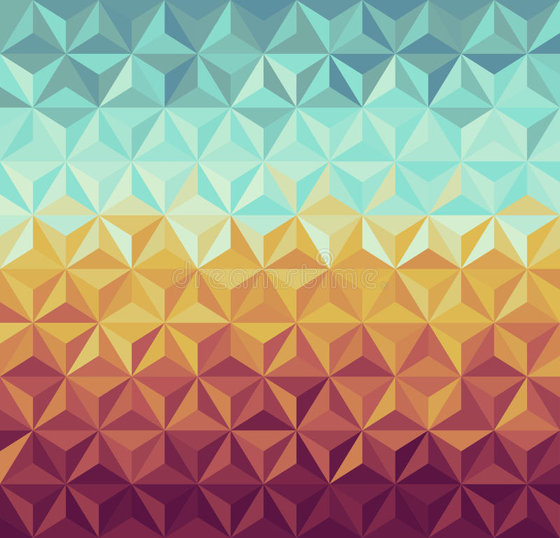 Modelo geométrico de los inconformistas retros. stock de ilustración