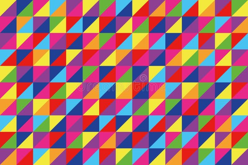 Modelo geométrico de los triángulos ilustración del vector