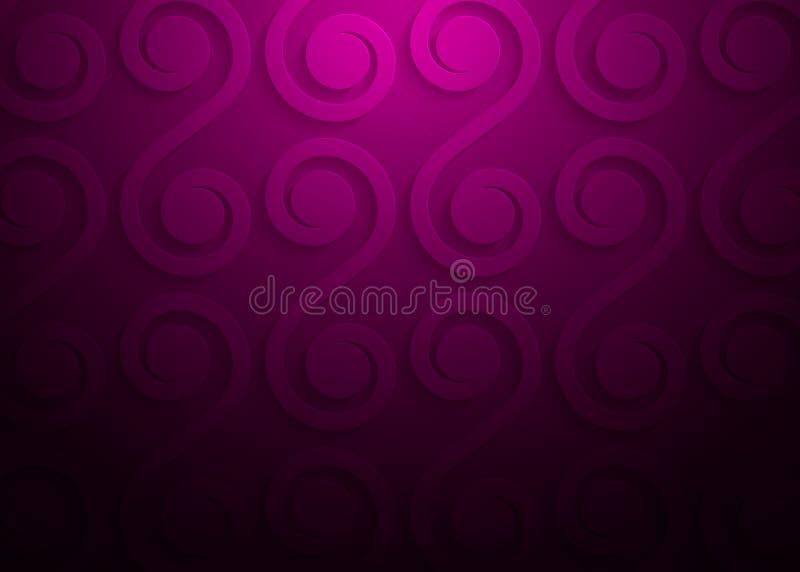 Modelo geométrico de papel rosado, plantilla abstracta para el sitio web, bandera, tarjeta de visita, invitación del fondo stock de ilustración