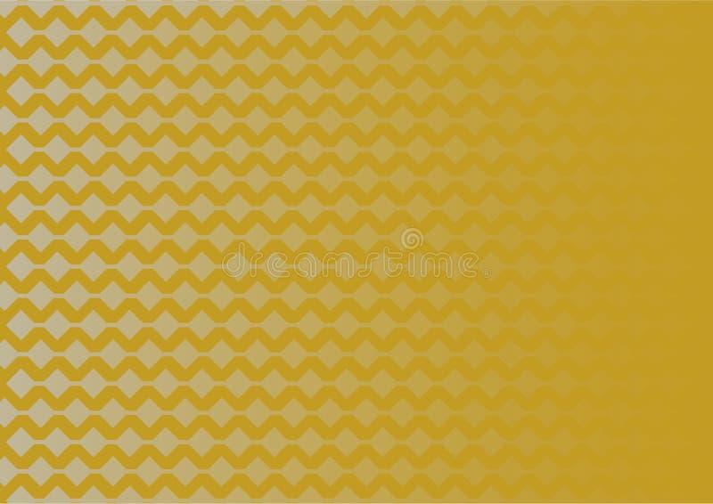 Modelo geométrico de plata de la pendiente en fondo del oro libre illustration