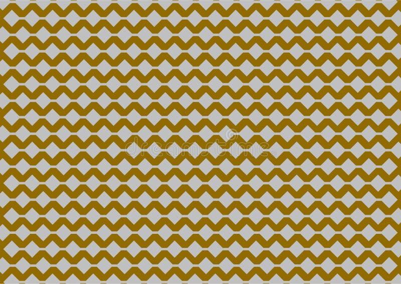 Modelo geométrico de plata en fondo del oro ilustración del vector
